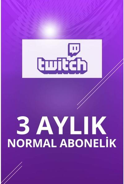 Twitch 3 Aylık Normal Abonelik