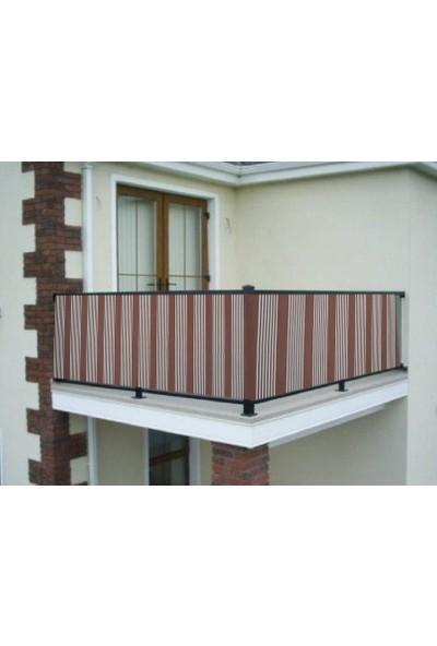Ceylan Home Balkon Demiri Perdesi Bağcıklı En 750 Boy 80 Kahverengi