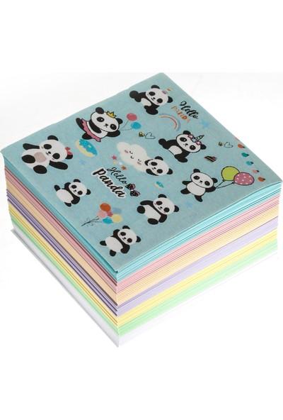 Vuki Panda Rengarenk Küp Bloknot