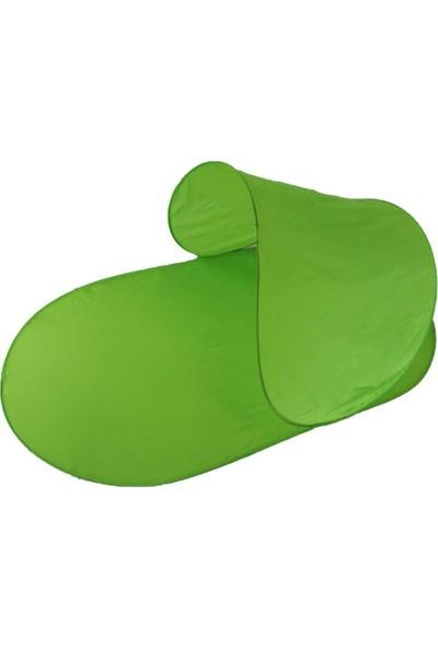 Plajmatik Pratik Katlanabilir Şezlong Çantalı Yeşil