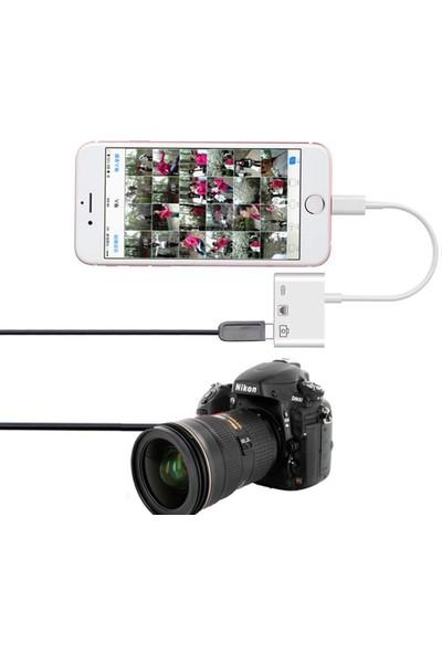 Microcase Lightning iPhone iPad To Ethernet USB Kamera Adaptörü - AL2471