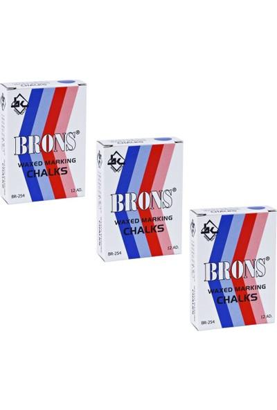 Brons BR-254 Tebeşir 12'li Kutu Siyah 3 Adet