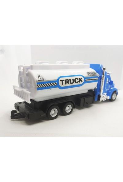 Elifeshop ES9911 Sürtmeli Truck Serisi Diecast Oyuncak Su Tankeri Kamyonu 1:38 Ölçekli 20 Cm.