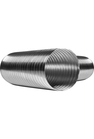 Semıafs 316L Çift Kenet Çelik, Şömine Borusu 20 Cm. Çift Sarım
