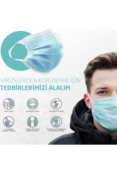 3 Katlı Meltblown Filtreli Cerrahi Maske 2 Kutu + 16GB Linktech Flash