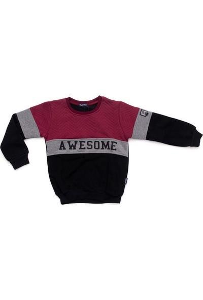 Tuffy Awesome Yazılı Bisiklet Yaka Erkek Çocuk Sweatshirt