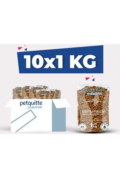 Petquitte Somonlu Yetişkin Kedi Maması 1 Kgx10 Adet
