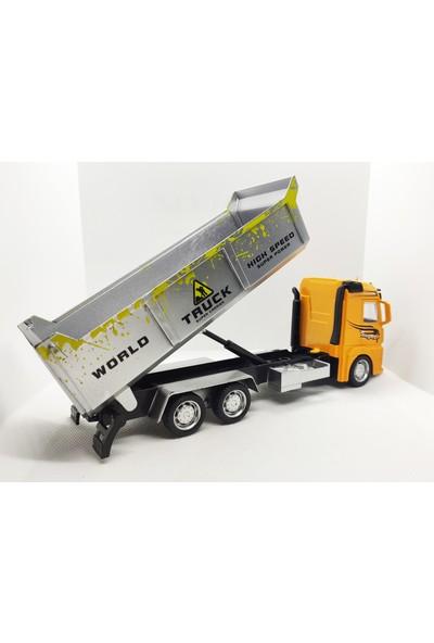 Elifeshop ES28011 Sürtmeli Metal Truck Serisi Diecast Oyuncak Inşaat Kamyonu 1:38 Ölçekli 20 Cm.