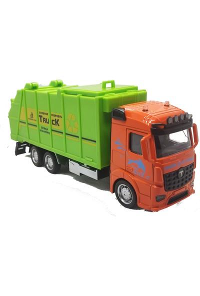 Elifeshop ES8111 Sürtmeli Metal Truck Serisi Diecast Oyuncak Geri Dönüşüm Kamyonu 1:38 Ölçekli 20 Cm.