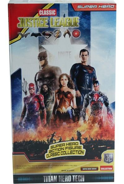 Elifeshop ES8818 Adalet Birliği Superman Işıklı & Sesli Aksiyon Figür Karakter Oyuncak
