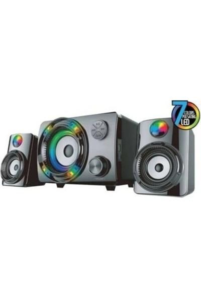 Kerasus DH0019 2+1 Oyuncu Ses Sistemi Rgb LED Bluetooth Hoparlör