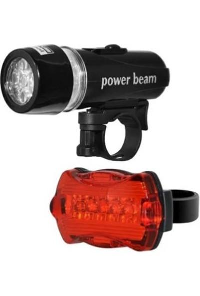 Züka Home Bisiklet Lambası Sinyali Işığı Ön Farı Arka Stop Seti LED Far