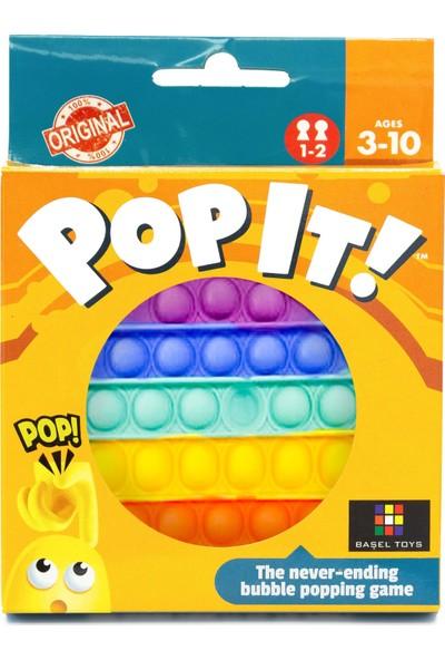 Başel Oyuncak Pop It Push Bubble Fidget Özel Pop Duyusal Oyuncak Zihinsel Stres ( Gökkuşağı / Rainbow )