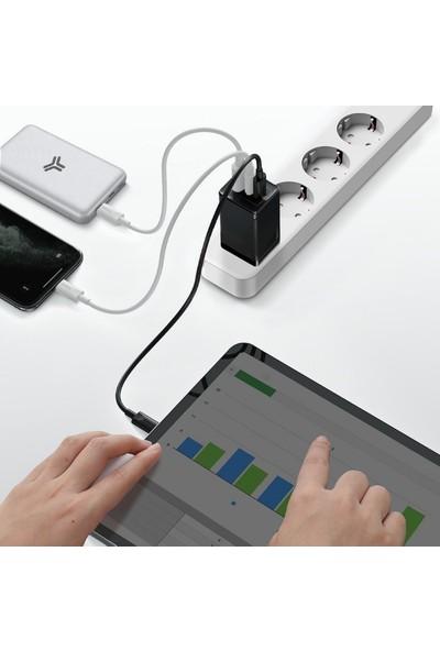 Baseus Gan2 Pro 65W Hızlı Şarj Aleti + Type-C Şarj Kablosu 1m Macbook Pro Şarj Aleti