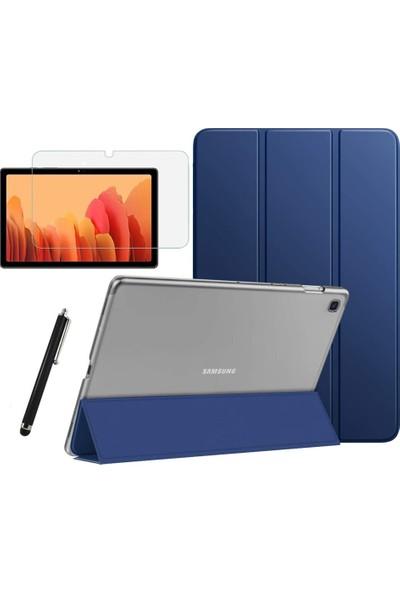 BizimGross Samsung Galaxy Tab A7 Sm T500 T505 T507 Smart Kapak Tablet Kılıfı + Ekran Koruyucu + Kalem 10.4 Inç