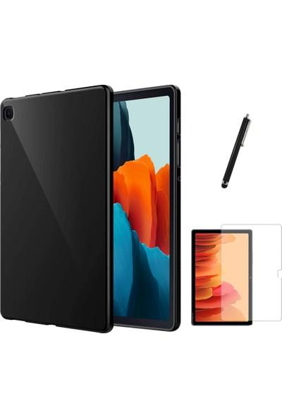 BizimGross Samsung Galaxy Tab A7 Sm T500 T505 T507 Silikon Tablet Kılıfı + Ekran Koruyucu + Kalem Seti 10.4 Inç