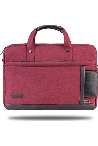 """lassone Ravenna VP1505 15,6 """" Su geçirmez kumaş ve fermuar Laptop Notebook El, Çantası-Bordo"""