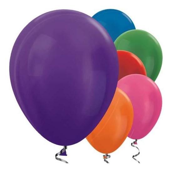 Parti Dünyası Karışık Renkli Metalik 10 Lu Latex Balon