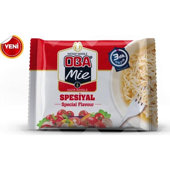 Oba Mie Noodle Hazır Makarna 75 gr x 40 + (5 Adet Çaykur Altın Süzen Poşet Bardak Çay)