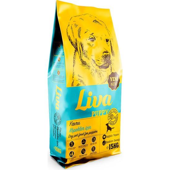 Liva Kuzu Etli Yavru Köpek Köpek Maması 15 kg