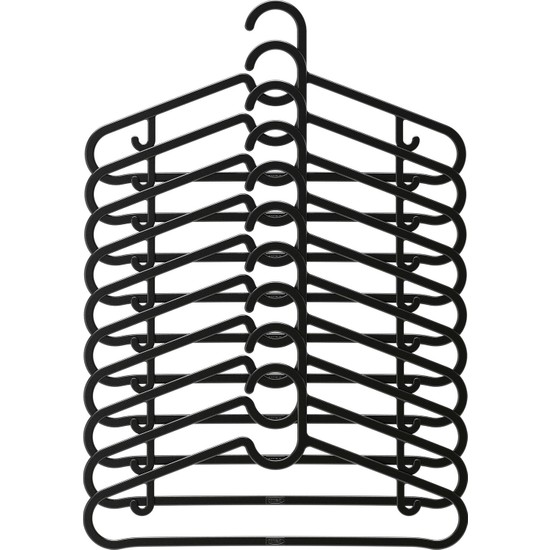 IKEA Spruttıg Siyah Giysi Askısı 10 Adet