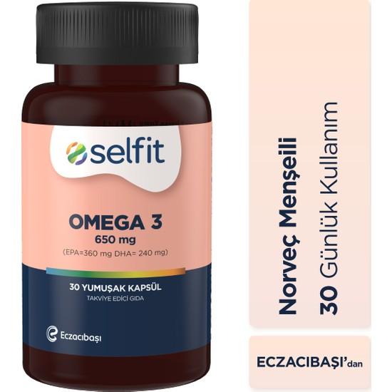 Eczacıbaşı Selfit Omega 3 650 Mg 30 Kapsül - Son Kullanma Tarihi: 02.2023