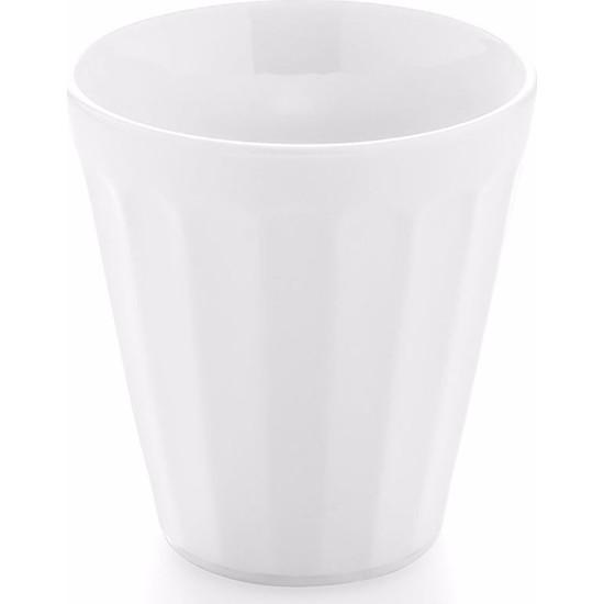 Güral Porselen Beyaz Diş Fırçalık 8 cm GR08SB00