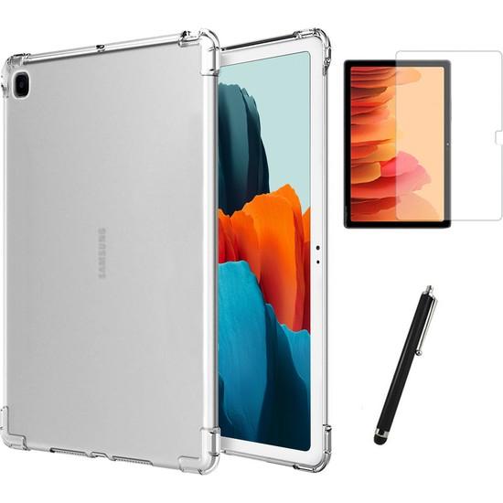BizimGross Samsung Galaxy Tab A7 Sm T500 T505 T507 Antishock Tablet Kılıfı + Ekran Koruyucu + Kalem 10.4 Inç