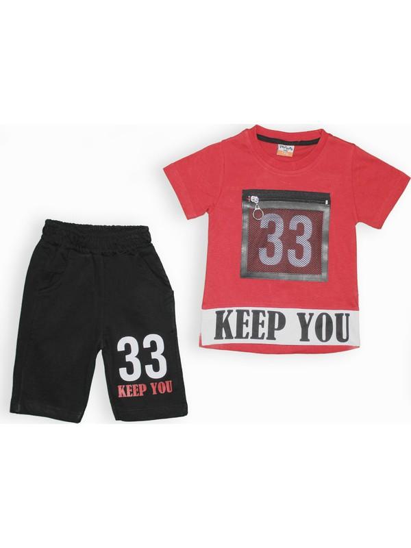 Yavrucak 329 Yavrucak Keep You Baskılı Fileli 2li Erkek Takım 1-4 Yaş
