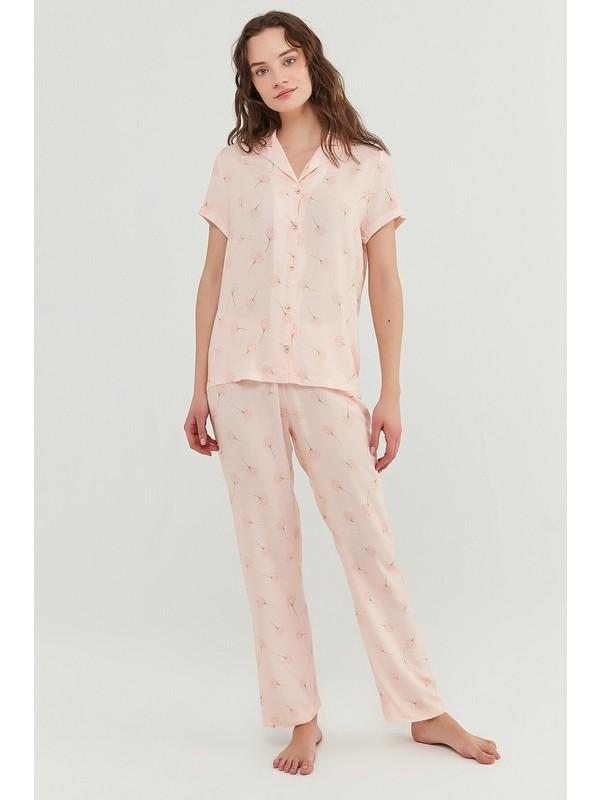 Penti Açık Pembe Ixia Flowers Gömlek Pantolon Takımı