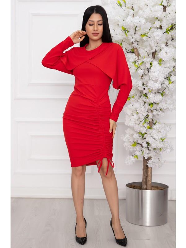 Kalopya Bayan Ip Askılı Bolerolu Elbise 2680