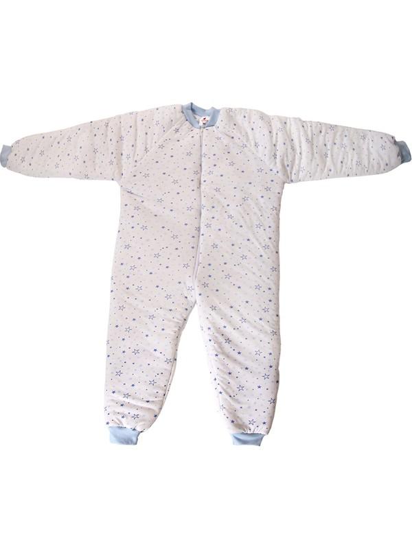Özlem Bebe 7-12 Yaş Arası Yıldız Desenli Ara Dolgu Uyku Tulumu