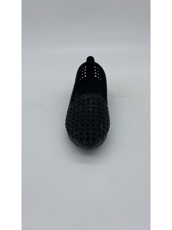 Cudo 066 Taslı Siyah Babet