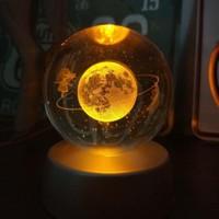 İstoc Toptan Satürn Çemberindeki Kız Işıklı Cam Küre, Satürn Cam Küre