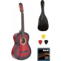 Madrıd MCG-120 Rds-39 Tam Boy Klasik Gitar Seti - Gitar Kılıfı 1 Takım Klasik Gitar Teli + 3 Adet Pena Madrıd MCG-120 Rds
