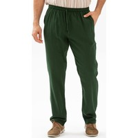 Eliş Şile Bezi Şile Bezi Cepli Erkek Pantolon Yeşil