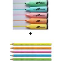 Scrikss ve Faber-Castell 10 Renk Fosforlu Kalem Seti