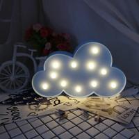 Mofy Baby Bulut Desenli Dekoratif LED Işıklı Lamba - Bebek Çocuk Odası Duvar Dekorasyon Aydınlatma Gece Lambası