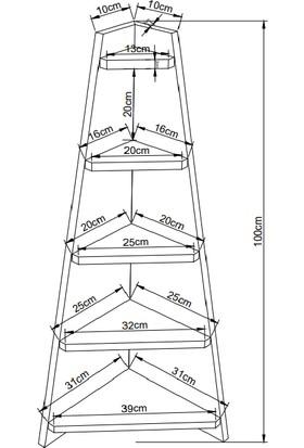 AKM Akm-Akmobilya Concept Karina Kitaplık Dekoratif Raf