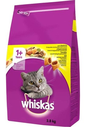 Whiskas Adult Tavuklu Kedi Maması 3,8 kg