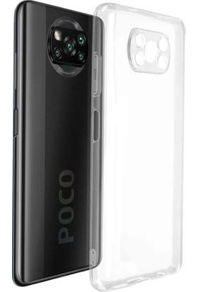 MyCase Poco X3 Nfc Kamera Korumalı Şeffaf Kılıf