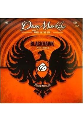 Dean Markley Blackhawk 8011 Kaplamalı 11-52 Medium Light Akustik Gitar Takım Tel