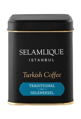Selamlıque Türk Kahvesi Geleneksel & Beyaz Kupa Bardak & Çikolata Hediye Seti