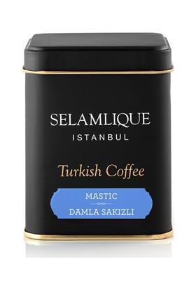 Selamlıque Türk Kahvesi Damla Sakızlı & Beyaz Kupa Bardak & Çikolata Hediye Seti