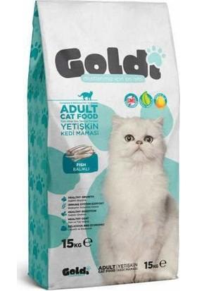 Goldi Balıklı Yetişkin Kedi Maması 15 kg