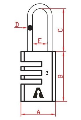 Dura Kilit Pirinç Gövde Çelik Kanca Şifreli Asma Kilit 21 mm DK-110
