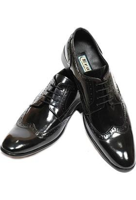 Eray Kundura Klasik Siyah Bağcıklı Erkek Ayakkabı ve Gabriel Najdorf Organic Socks Bambu Siyah Çorap