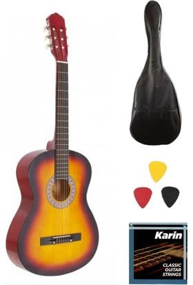 Madrıd MCG-120 Rds-39 Tam Boy Klasik Gitar Seti - Gitar Kılıfı1 Takım Klasik Gitar Teli + 3 Adet Pena Madrıd MCG-120 Rds