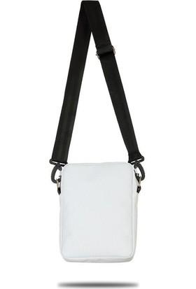 Fudela Çapraz Askılı Rahat Günlük Kullanım Omuz Çantası Beyaz