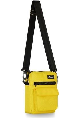 Fudela Çapraz Askılı Rahat Günlük Kullanım Omuz Çantası Sarı